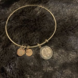 Alex and ani saint Christopher gold tone bracelet